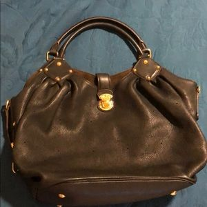 Black leather Louis Vuitton Mahina